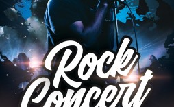 008 Simple Free Concert Poster Template Photo  Templates Word