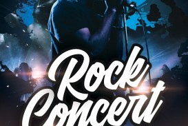 008 Simple Free Concert Poster Template Photo  Rock Psd Christma Photoshop