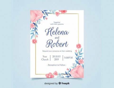 008 Simple Free Download Invitation Card Template Psd Sample  Indian Wedding Birthday480