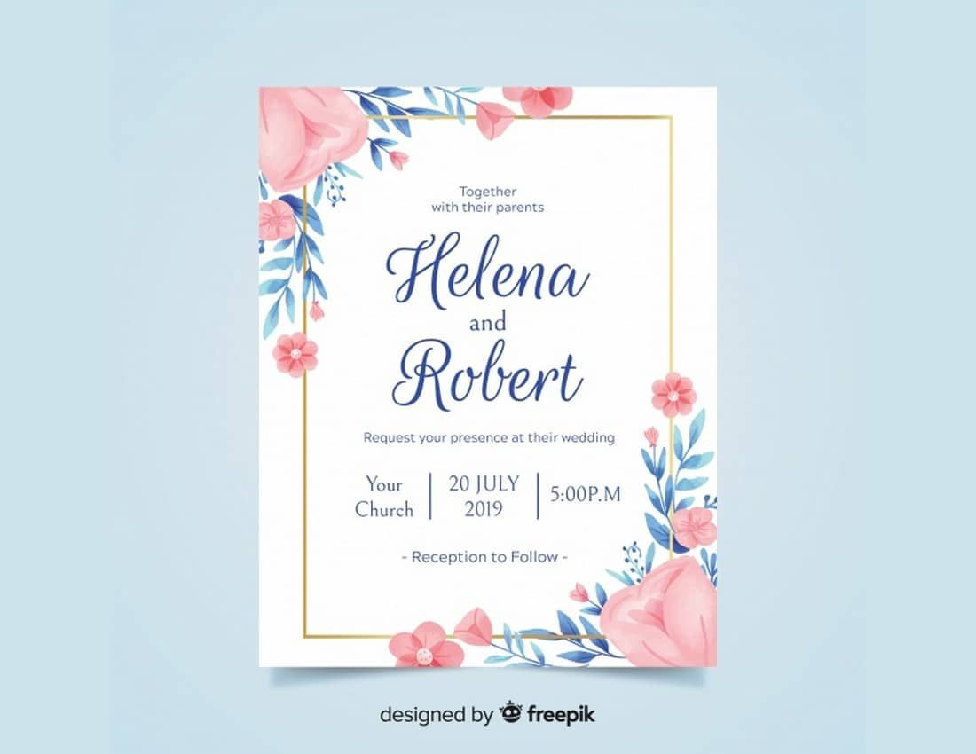 008 Simple Free Download Invitation Card Template Psd Sample  Indian WeddingFull