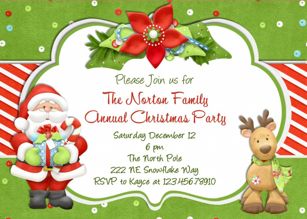 008 Simple Free Holiday Party Invitation Template High Definition  Templates Printable Downloadable Christma OnlineLarge