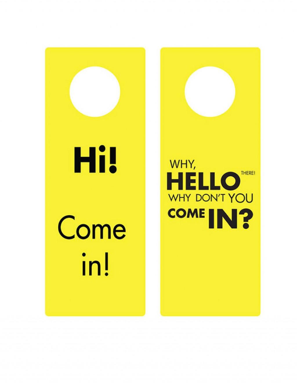008 Simple Free Template For Door Hanger Word Picture  WeddingLarge