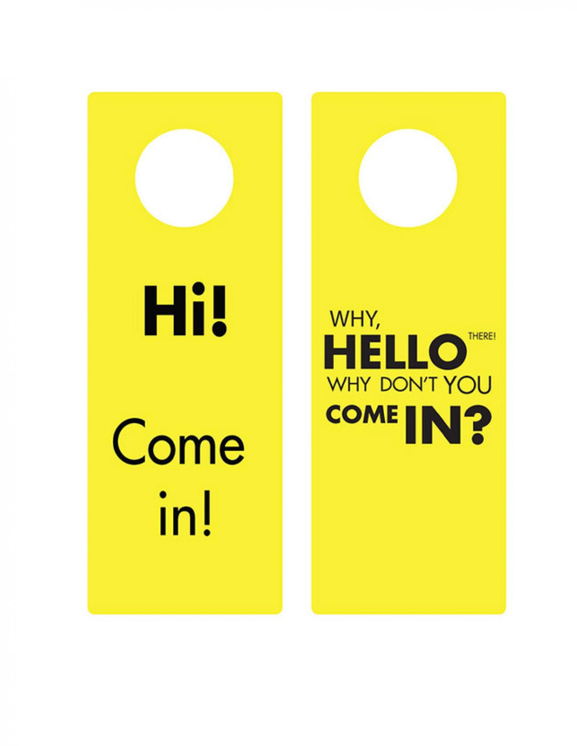 008 Simple Free Template For Door Hanger Word Picture  Wedding1920