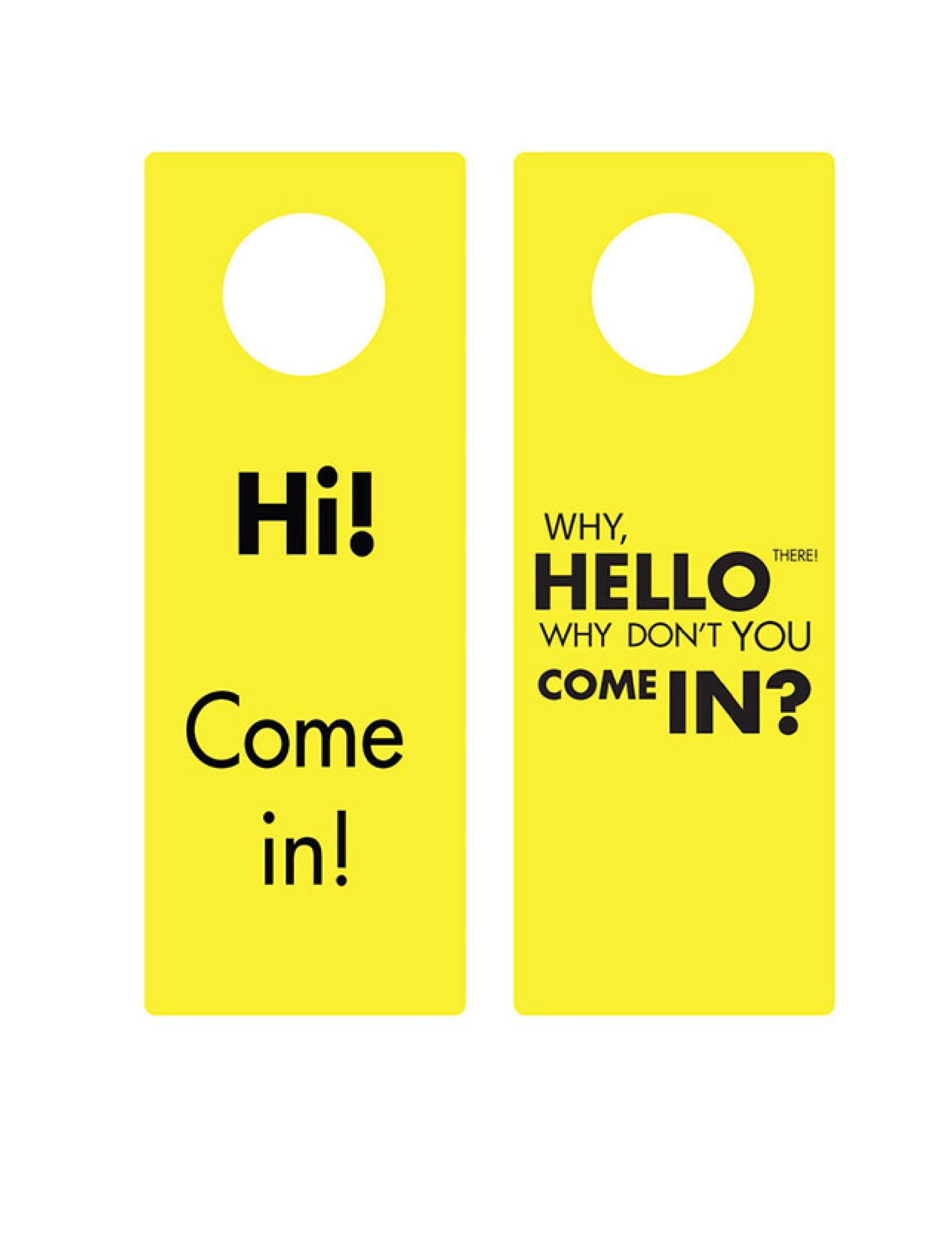 008 Simple Free Template For Door Hanger Word Picture  WeddingFull