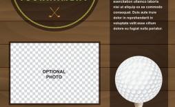 008 Simple Golf Tournament Flyer Template Design  Word Free Pdf