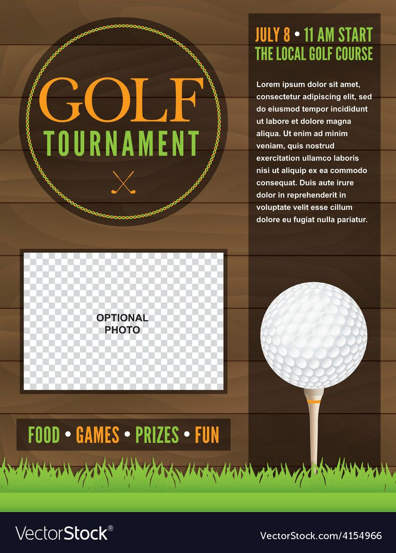 008 Simple Golf Tournament Flyer Template Design  Word Free PdfFull