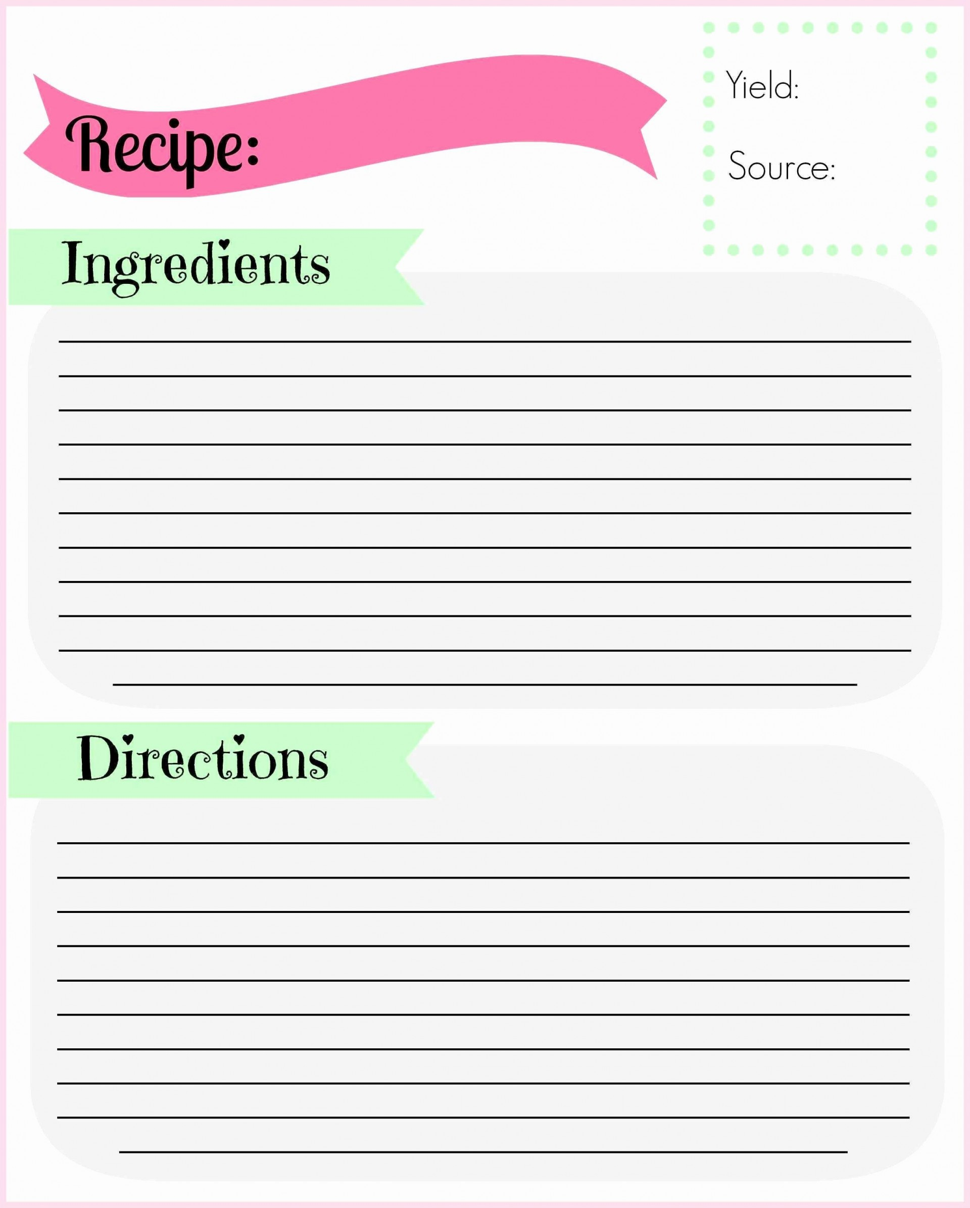 008 Simple M Word Recipe Template Design  Microsoft Card 2010 Full Page1920