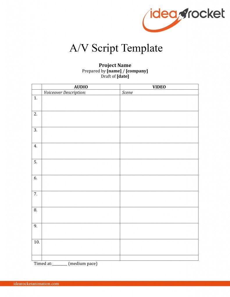 008 Simple Music Video Script Template Example  Google Doc FreeFull