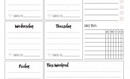 008 Simple Printable Weekly Planner Template Cute Idea  Free Calendar