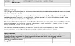008 Simple Project Charter Template Excel High Resolution  Lean Pmbok Nederland