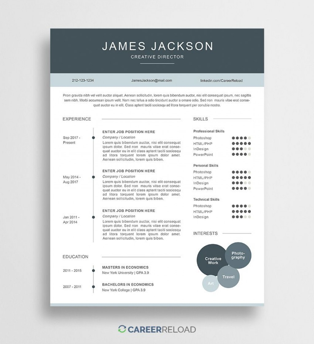 008 Simple Psd Resume Template Free Download Picture  Graphic Designer Creative CvLarge