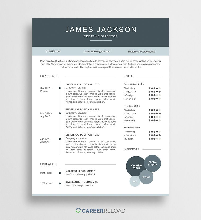 008 Simple Psd Resume Template Free Download Picture  Graphic Designer Creative CvFull