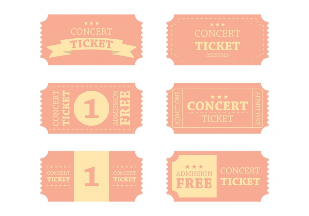 008 Simple Vintage Concert Ticket Template Free Download High Definition Large