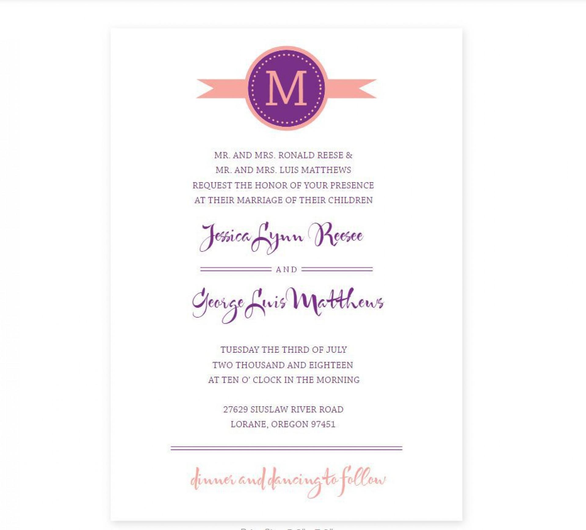 008 Simple Wedding Program Template Free Photo  Fan Download Elegant1920