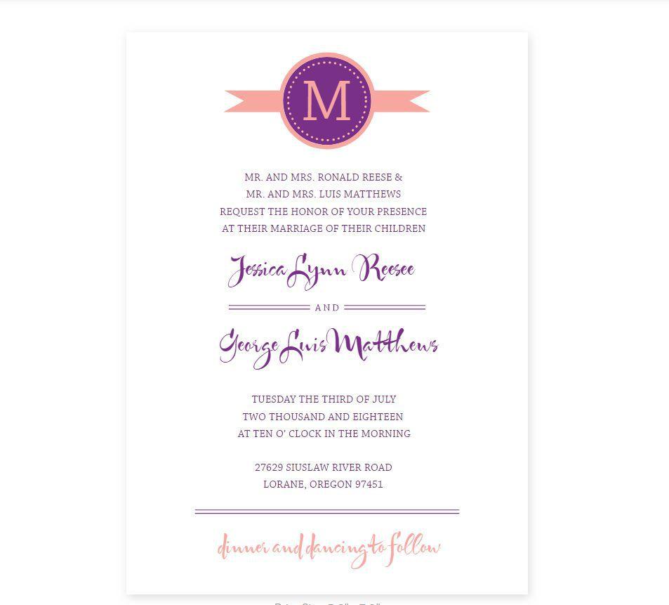 008 Simple Wedding Program Template Free Photo  Fan Download ElegantFull