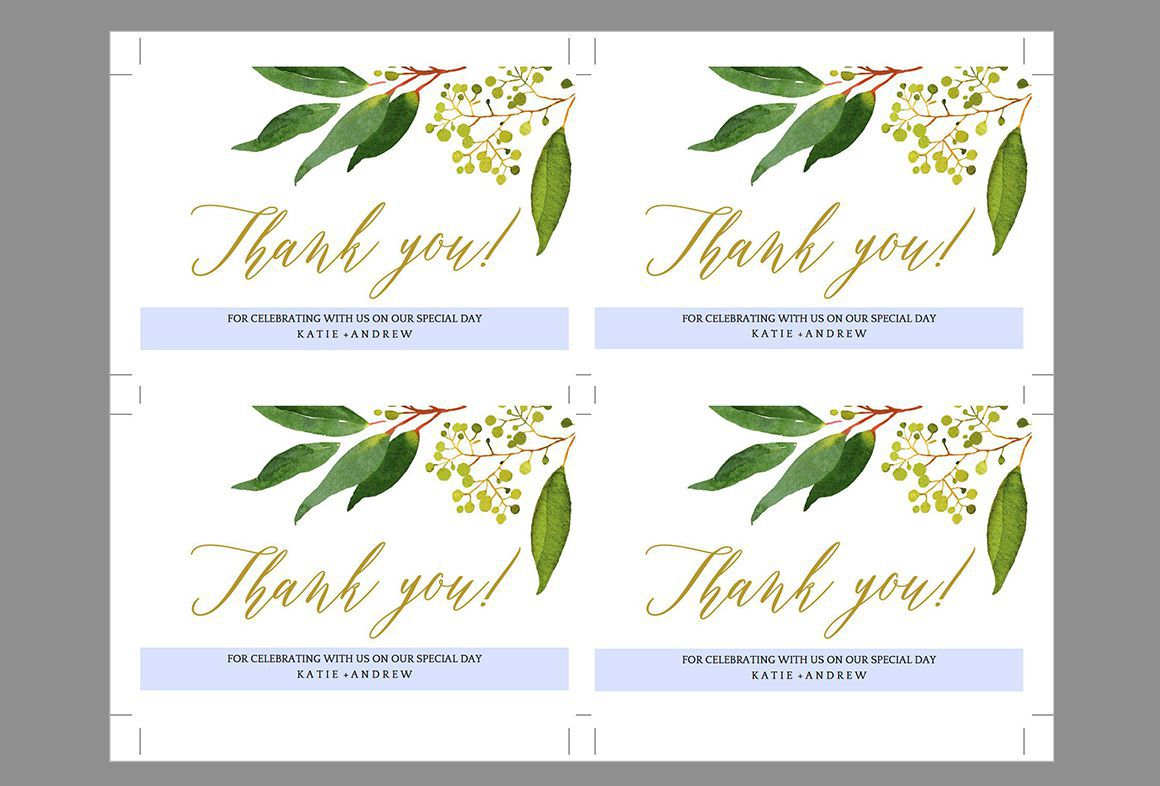 008 Simple Wedding Thank You Card Template Psd Image  FreeFull