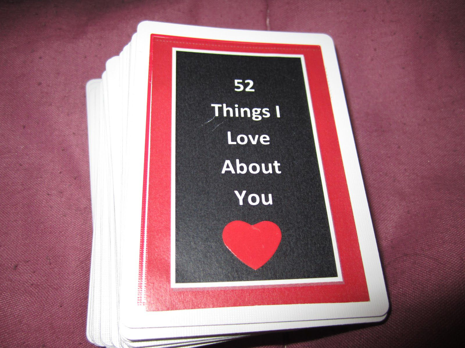 008 Singular 52 Reason Why I Love You Deck Of Card Free Template Highest Clarity Full