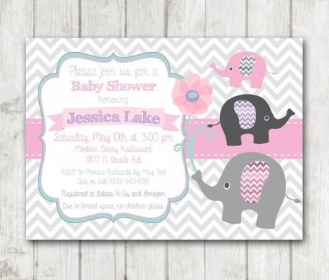 008 Singular Baby Shower Invitation Girl Printable High Def 480