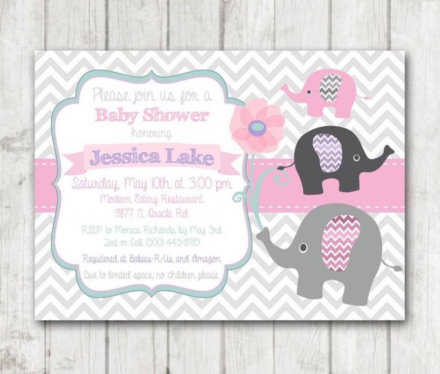 008 Singular Baby Shower Invitation Girl Printable High Def 868
