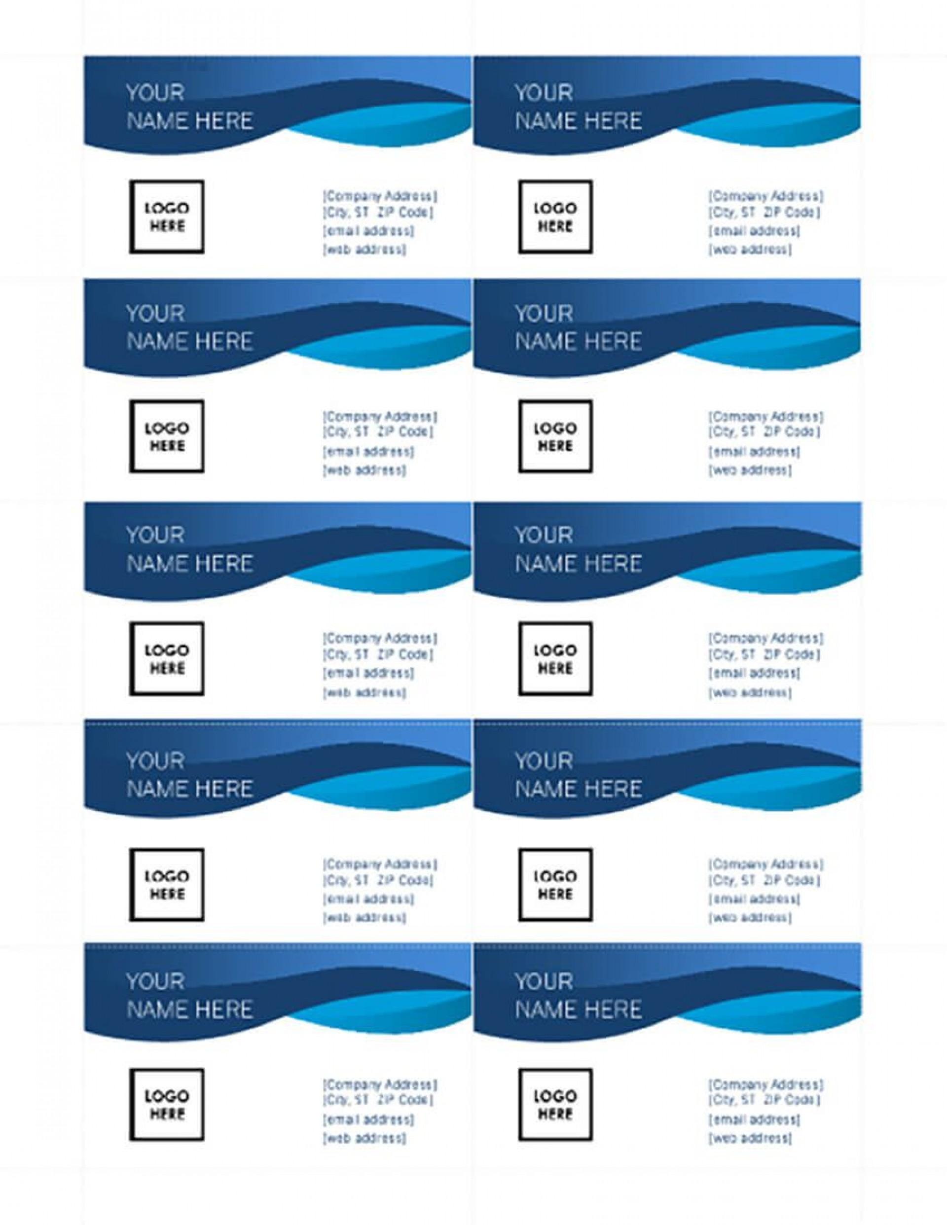 008 Singular Busines Card Template Microsoft Word 2010 Photo 1920