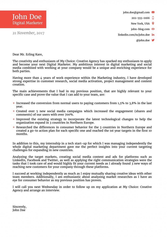 008 Singular Cover Letter For Job Template Photo  Sample Cv Application Email Resume Microsoft WordLarge