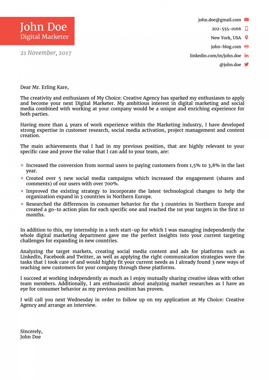 008 Singular Cover Letter For Job Template Photo  Sample Cv Application Email Resume Microsoft Word1920