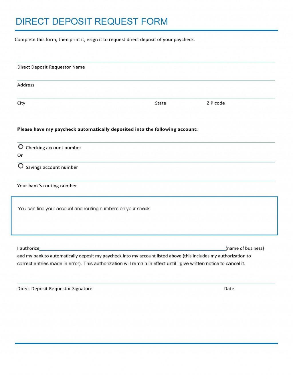 008 Singular Direct Deposit Cancellation Form Template Sample  Authorization Canada Word PayrollLarge