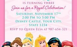 008 Singular Disney Princes Invitation Template Highest Quality  Downloadable Party Free Printable Birthday