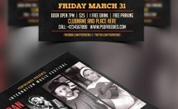 008 Singular Event Flyer Template Free Inspiration  Word Download Psd
