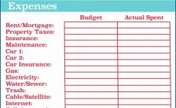 008 Singular Excel Monthly Bill Template Highest Clarity  Personal Budget Free Download