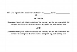 008 Singular Family Loan Agreement Template Highest Clarity  Nz Uk Free