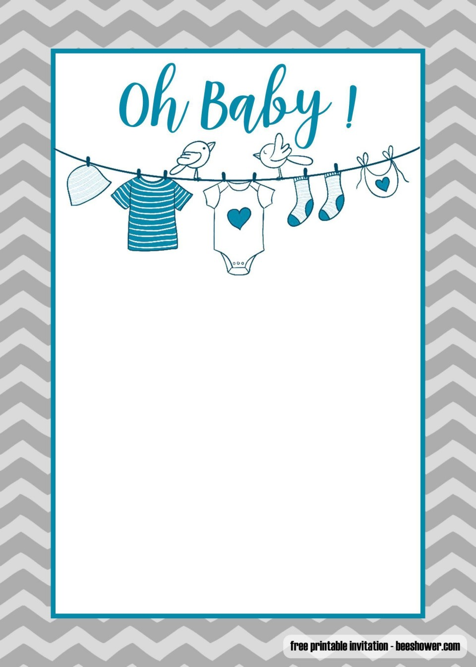 008 Singular Free Baby Shower Card Template For Word Image 960