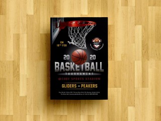 008 Singular Free Basketball Flyer Template Photo  Game 3 On Tournament Word320