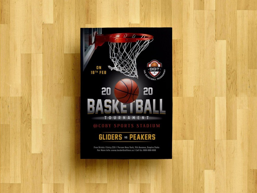 008 Singular Free Basketball Flyer Template Photo  Game 3 On Tournament Word868
