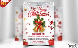 008 Singular Free Christma Poster Template Sample  Templates Psd Download Design Word