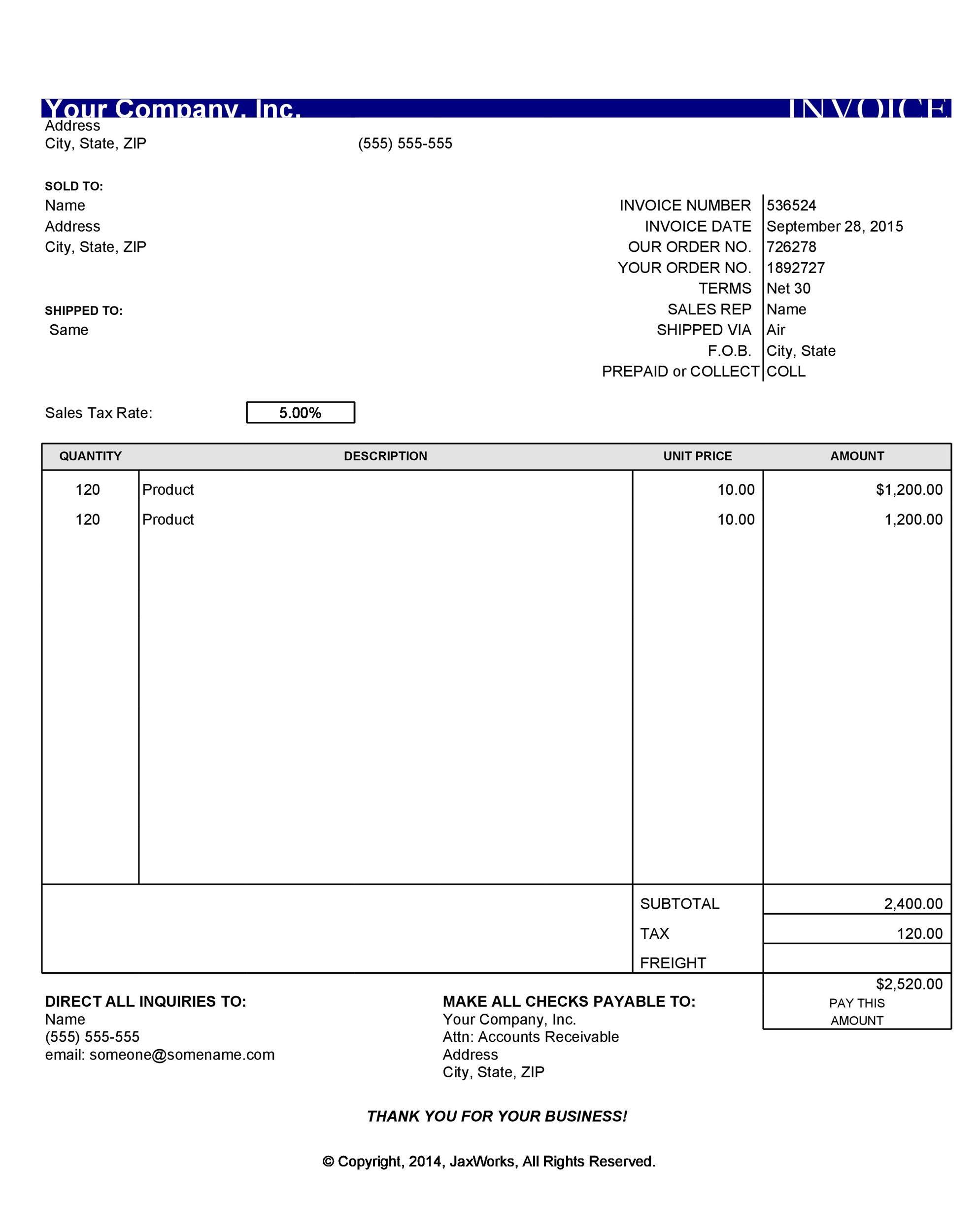 008 Singular Free Printable Invoice Template Download Image  Downloadable Pdf Blank WordFull