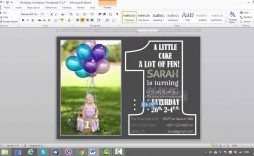 008 Singular Microsoft Word Birthday Card Invitation Template Design