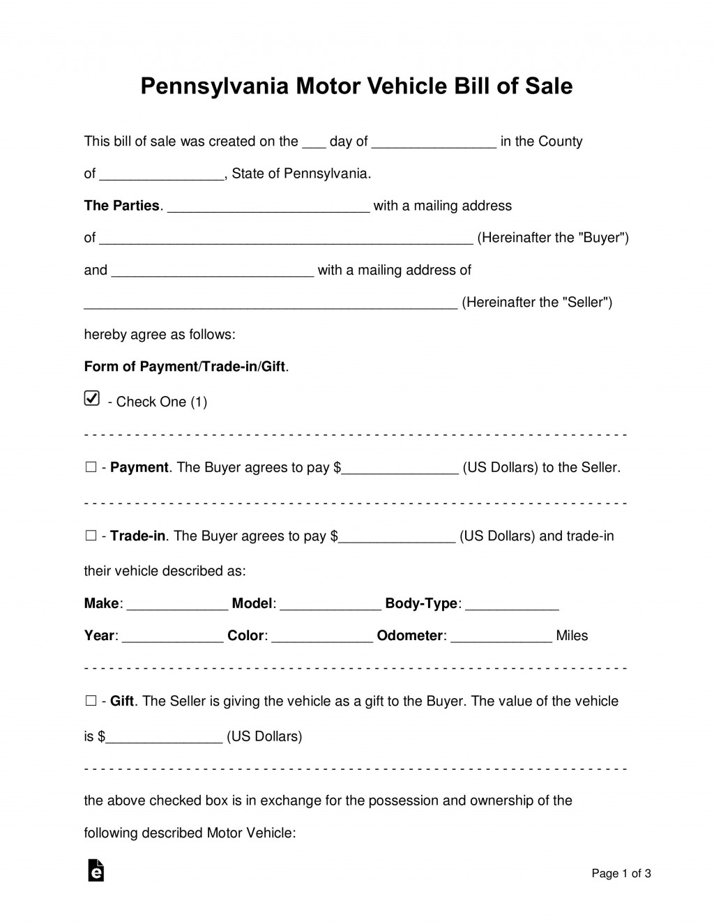 008 Singular Template For Bill Of Sale High Resolution  Example Trailer Free Mobile Home Used CarLarge