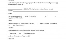 008 Singular Template For Lease Agreement Rental Property Idea