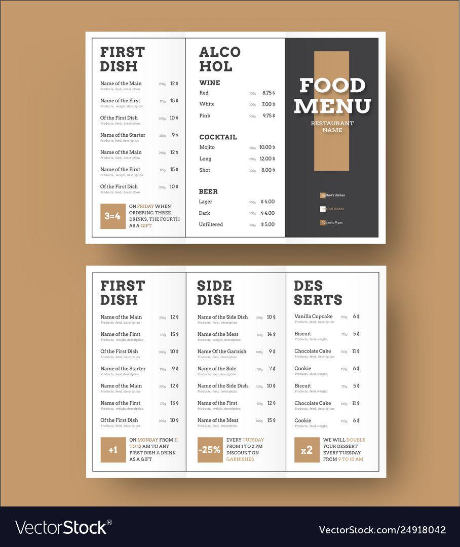 008 Singular Tri Fold Menu Template High Definition  Templates Restaurant Tri-fold Food Free PsdFull