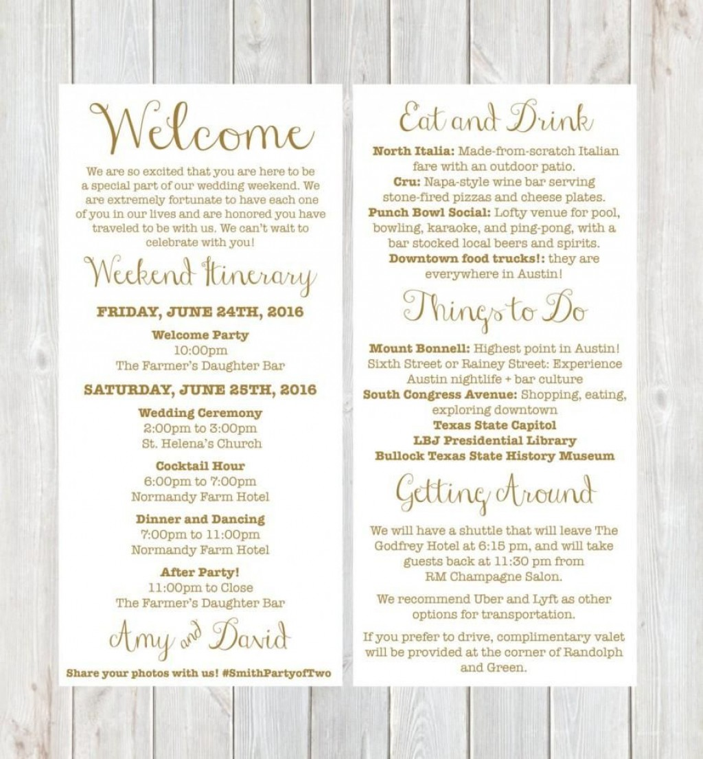 008 Singular Wedding Guest Welcome Letter Template Photo Large