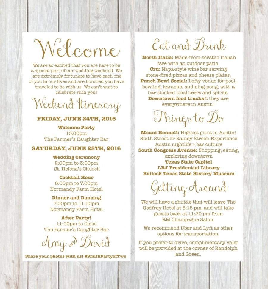 008 Singular Wedding Guest Welcome Letter Template Photo Full