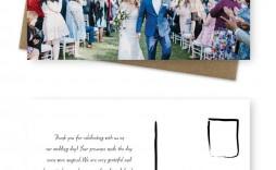 008 Singular Wedding Thank You Note Template Inspiration  Shower Gift Present Bridal Sample