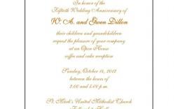008 Staggering 50th Wedding Anniversary Invitation Card Sample High Definition  Wording