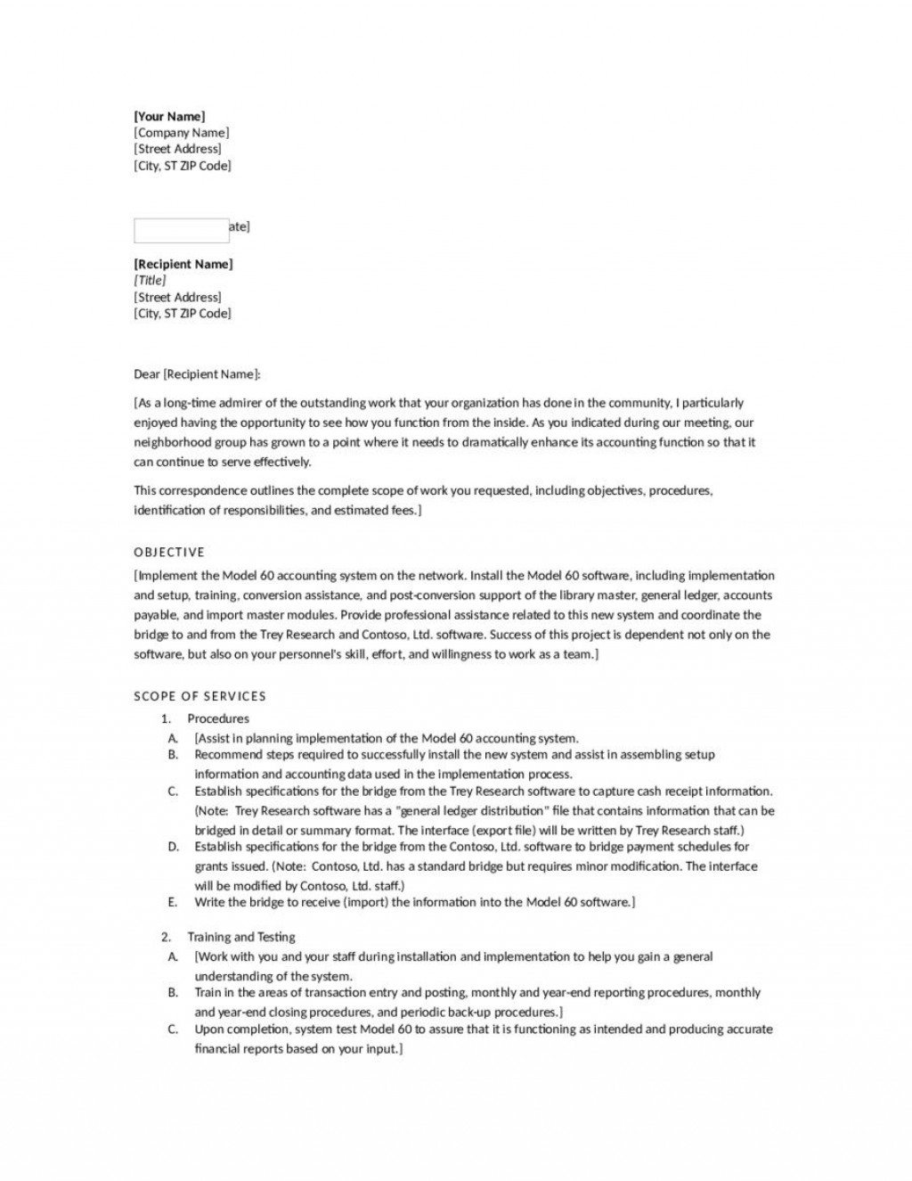 008 Staggering Busines Proposal Letter Template High Def  Free DownloadLarge