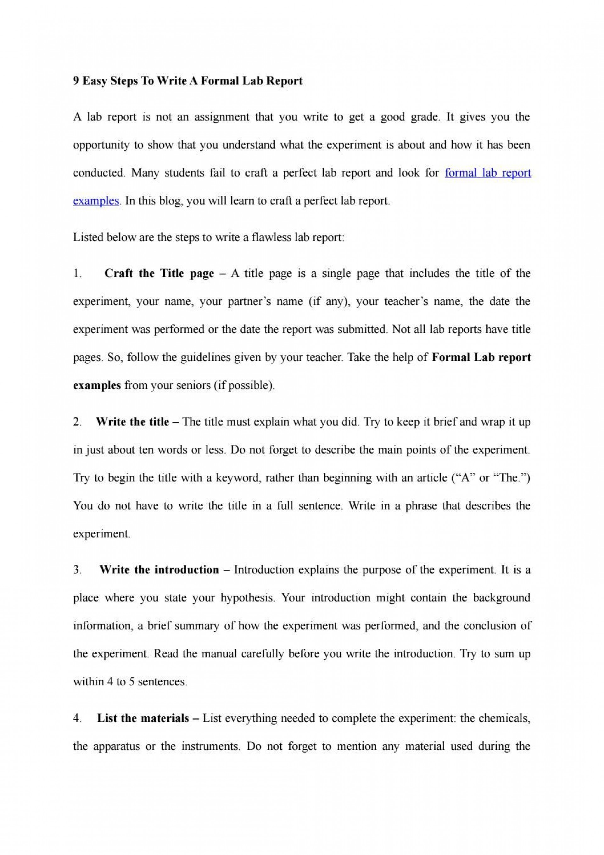 008 Staggering Formal Lab Report Template Concept  Biology Introduction Example Science1920