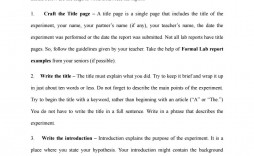 008 Staggering Formal Lab Report Template Concept  Biology Introduction Example Science