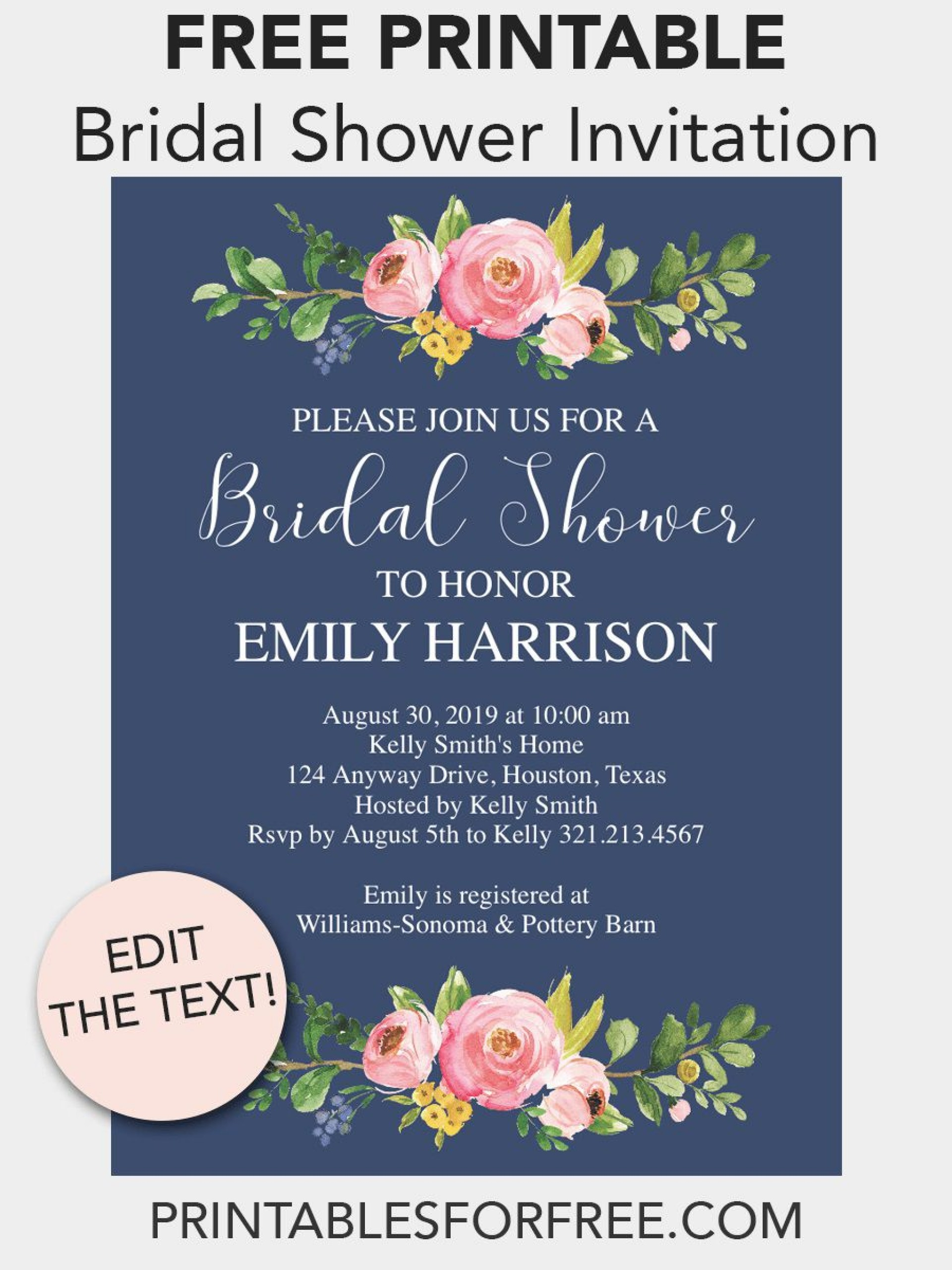 008 Staggering Free Bridal Shower Invite Template Highest Quality  Invitation For Word Wedding Microsoft1920