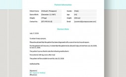 008 Staggering Free Doctor Note Template For Work High Definition  Printable Editable Fake Pdf