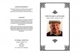 008 Staggering Free Editable Celebration Of Life Program Template High Definition